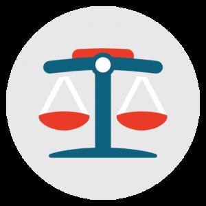Icône Juridique, le droit, la justice, equilibre, la cour, le juge