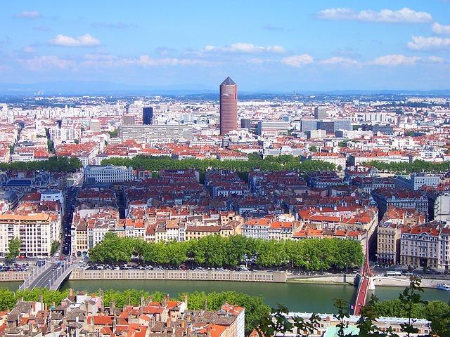 Lyon Ville France Paysage Urbain Urbain