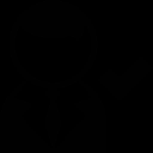 Icône Utilisateur,avec, dun proces,et, cheque, marque