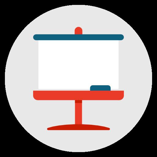 Icône Tableau,presentation,seminaire,a ecole,des enseignants,des conferences